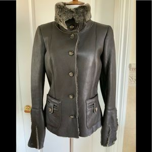 Jey Cole shearling women jacket nwt